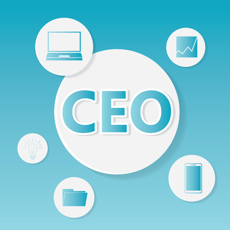 CEO (Chief Executive Officer) business concept- vector illustration
