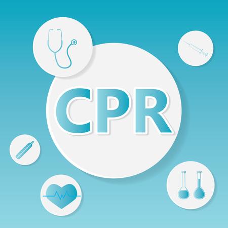 CPR (Cardiopulmonary Resuscitation) medical concept- vector illustration