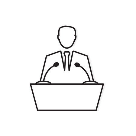 business speaker icon- vector illustration