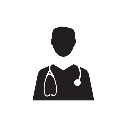 male doctor icon- vector illustration