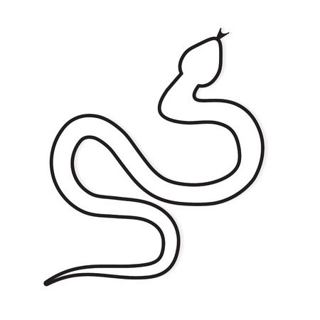 reptile snake icon- vector illustration Çizim