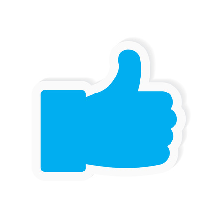 thumbs up icon- vector illustration Ilustração