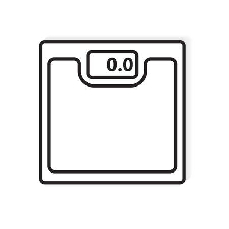 bathroom weight scale icon- vector illustration