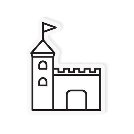 medieval castle icon- vector illustration