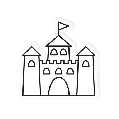 medieval castle icon- vector illustration