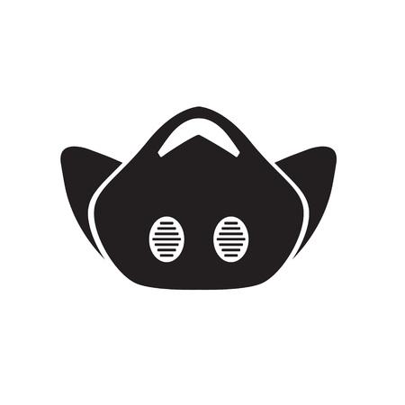 anti smog mask icon- vector illustration