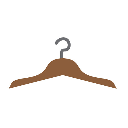 clothes hanger icon- vector illustration