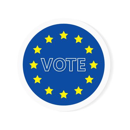 european election sign- vector illustration Ilustração