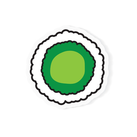 avocado suhi roll icon- vector illustration