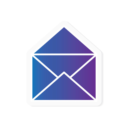 gradient envelope icon- vector illustration Illustration