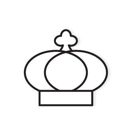 black crown icon- vector illustration