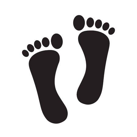 Bare-Füße-Drucksymbol