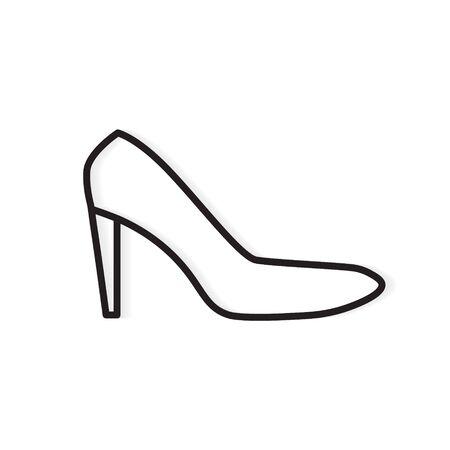 High heel shoe icon Illustration