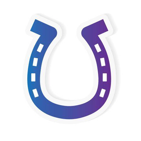 Gradient horseshoe icon