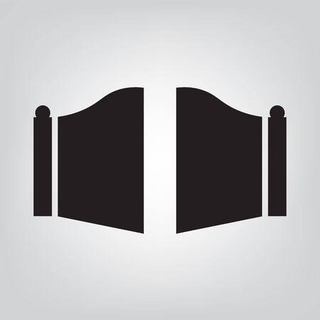 Modern gate icon Stock Illustratie