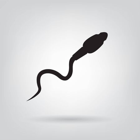 sperm male reproductive cell icon- vector illustration