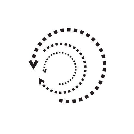 search history icon- vector illustration