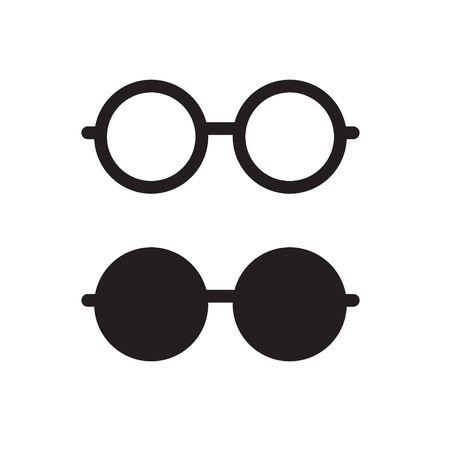 black eyeglasses icon- vector illustration