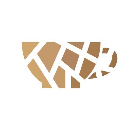 geometric coffee cup icon- vector illustration