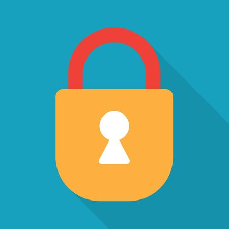 colorful padlock icon- vector illustration