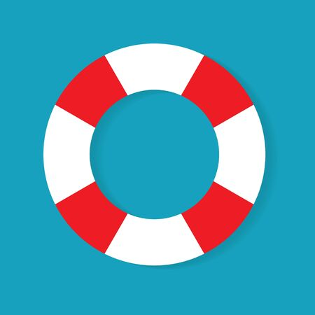 marine lifebuoy icon- vector illustration 向量圖像