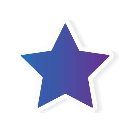 gradient star icon- vector illustration
