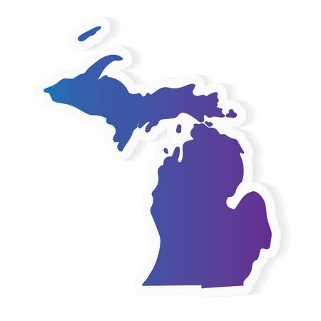 gradient Michigan map- vector illustration