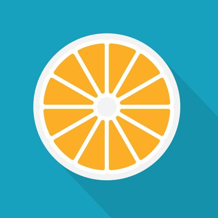 orange fruit icon- vector illustration Ilustracja