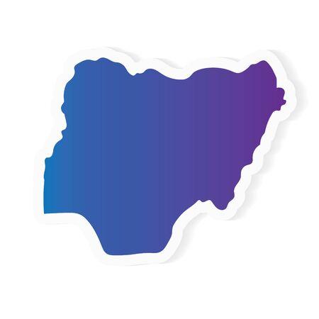 gradient Nigeria map- vector illustration