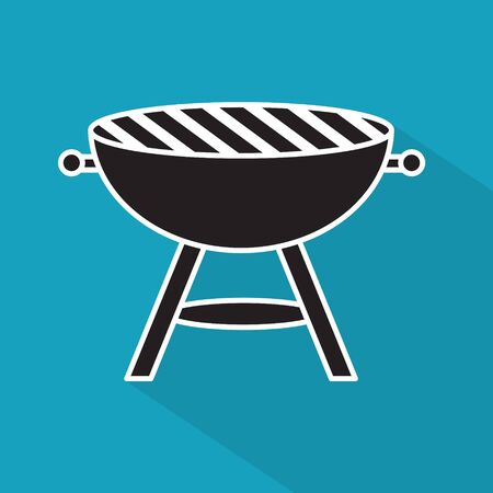grill, barbecue icon- vector illustration Illustration