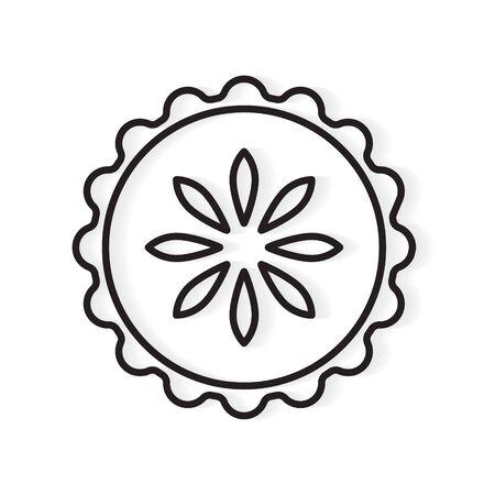fruit pie icon- vector illustration Vektoros illusztráció