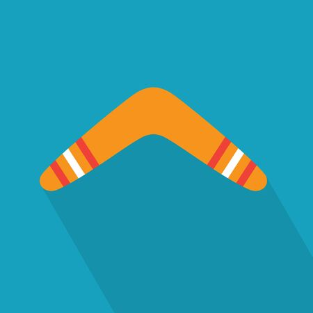colorful boomerang icon- vector illustration