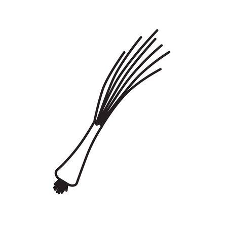 black chives icon- vector illustration 일러스트