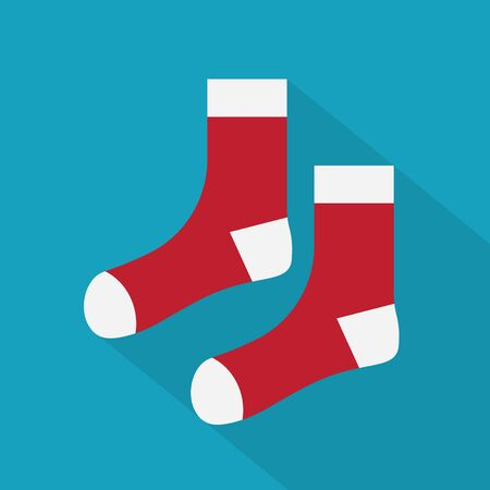 red and white socks icon- vector illustration  イラスト・ベクター素材