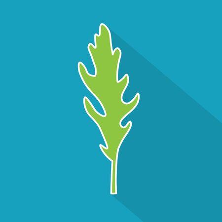 arugula, rucola leaf icon- vector illustration