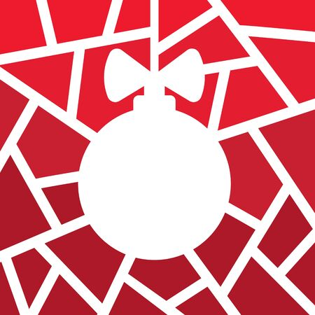 geometric christmas tree- vector illustration