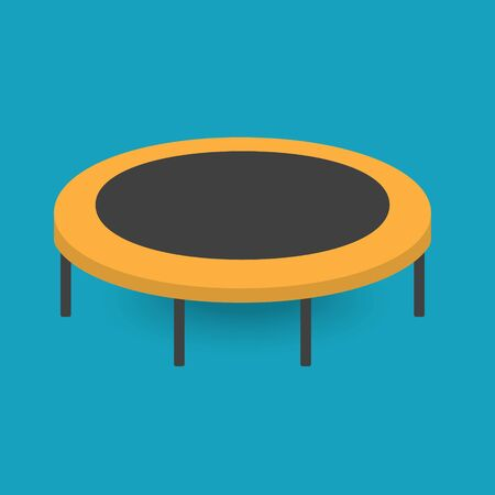 fitness trampoline icon- vector illustration