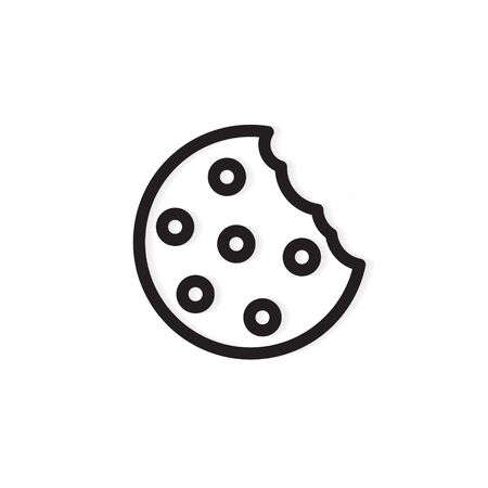 bitten cookie icon -vector illustration