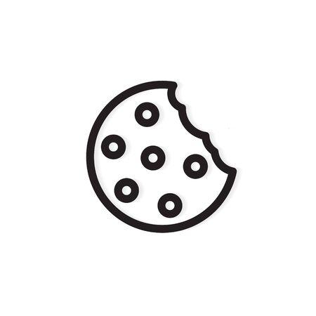 bitten cookie icon -vector illustration