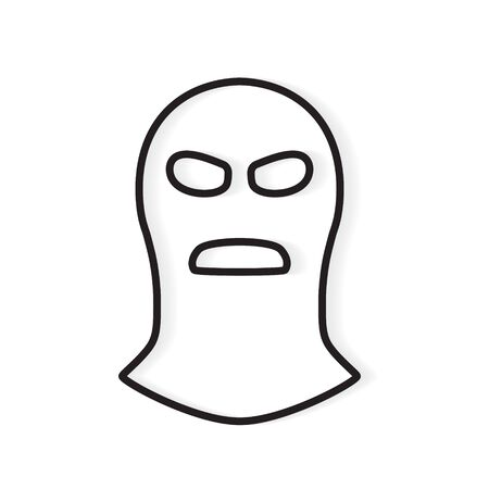 bandit, robber mask icon- vector illustration