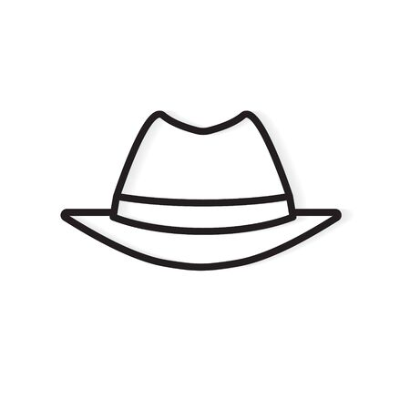 vintage male spy hat icon- vector illustration