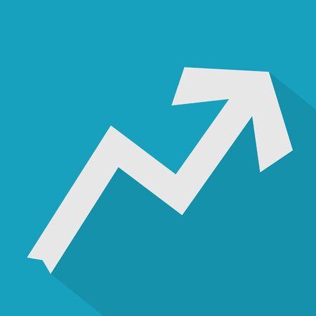 upward arrow icon- vector illustration