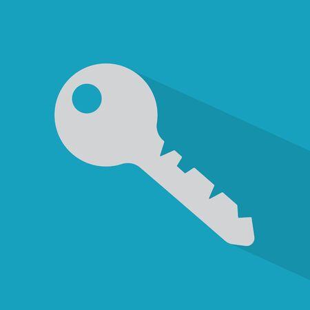 grey key icon- vector illustration