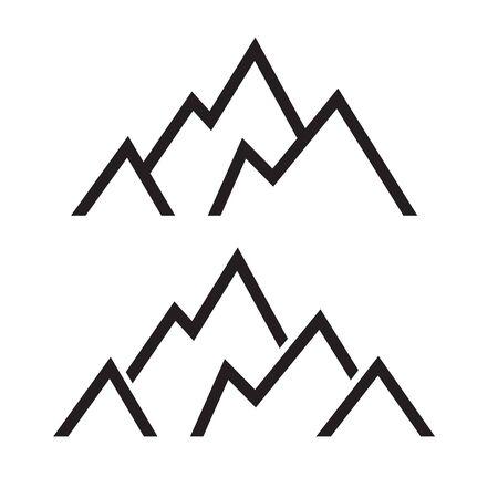 mountain peak icon- vector illustration