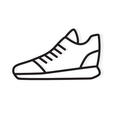 black running shoe icon- vector illustration
