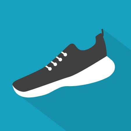 running shoe icon- vector illustration