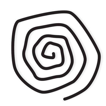 spiral line icon- vector illustration Illusztráció
