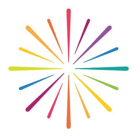 colorful sunburst icon- vector illustration 向量圖像