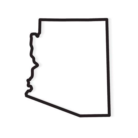 black outline of Arizona map- vector illustration 向量圖像