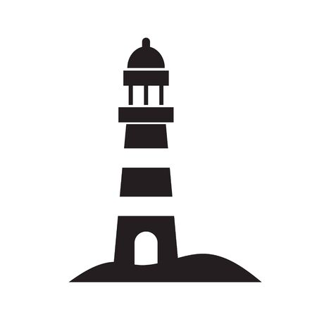 black lighthouse icon- vector illustration Stok Fotoğraf - 130859163